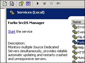 The service installed on a Windows Server 2003
