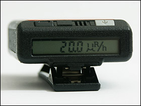 SAIC PD-10i gamma dosimeter display
